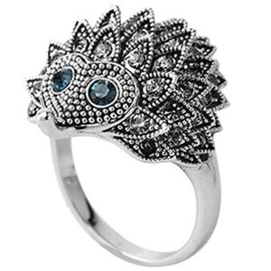 HEDGEHOG RING GOLD Rhinestone Statement Ring